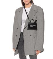 Off-White Casual Style Unisex Street Style Leather Office Style