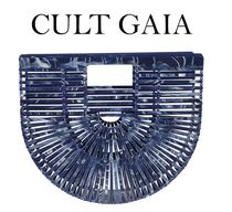 CULT GAIA Ark Blended Fabrics Plain Party Style Elegant Style Handbags