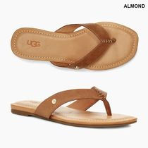 UGG Australia Rubber Sole Casual Style Plain Leather Flip Flops Logo