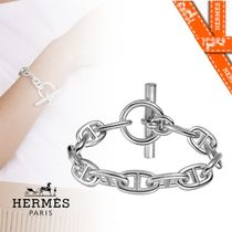 HERMES Chaine dAncre Casual Style Silver Office Style Elegant Style Formal Style
