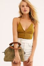 Free People Casual Style 2WAY Plain Leather Party Style Office Style