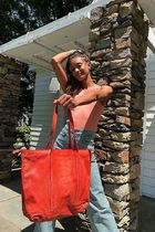 Free People Casual Style Plain Leather Party Style Office Style Totes