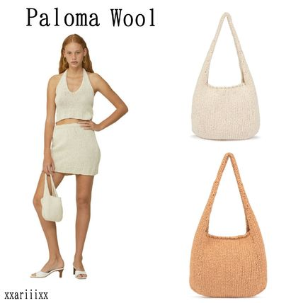 Casual Style Plain Handbags