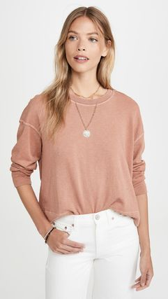 Short Street Style Long Sleeves Plain Cotton