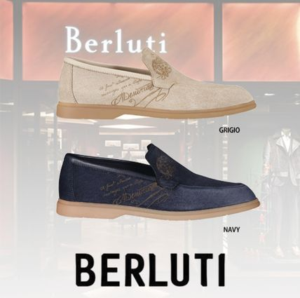 Berluti Loafers & Slip-ons Loafers Leather Logo Loafers & Slip-ons