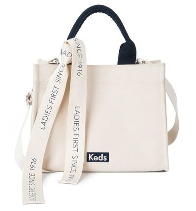 Casual Style Canvas 2WAY Plain Office Style Crossbody Totes