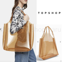 TOPSHOP Casual Style Street Style A4 Plain PVC Clothing Office Style