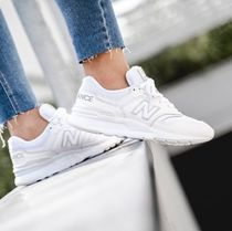 New Balance 997 Unisex Blended Fabrics Plain Leather Logo Low-Top Sneakers