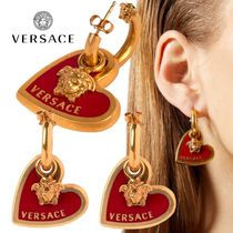 VERSACE Unisex Brass Earrings