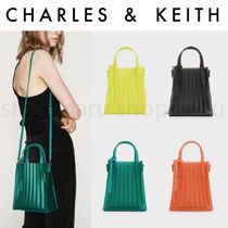 Charles&Keith Casual Style Street Style 2WAY Plain Crystal Clear Bags