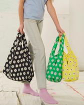 BAGGU Flower Patterns Dots A4 Co-ord Logo Shoppers