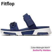 Fitflop Open Toe Rubber Sole Casual Style Street Style Plain