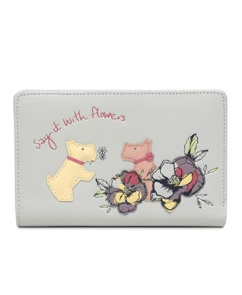 Flower Patterns Other Animal Patterns Leather Folding Wallet