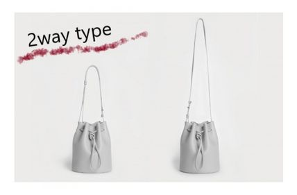 Casual Style 2WAY Plain Leather Crossbody Shoulder Bags