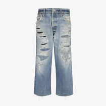 GIVENCHY Denim Street Style Plain Cotton Logo Wide & Flared Jeans