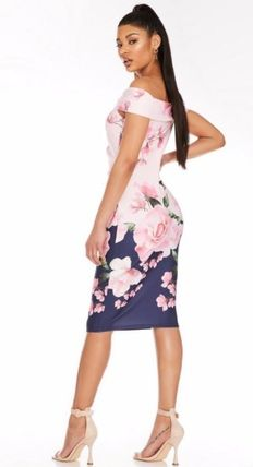 Wrap Dresses Short Flower Patterns Tight A-line Sleeveless