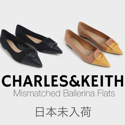 Charles&Keith Casual Style Faux Fur Blended Fabrics Bi-color Plain