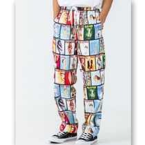 X-Large Printed Pants Unisex Street Style Collaboration