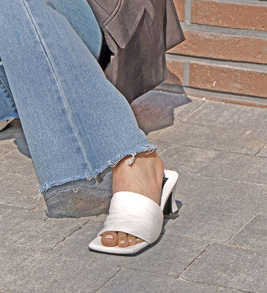 Wedge Open Toe Casual Style Studded Street Style Plain