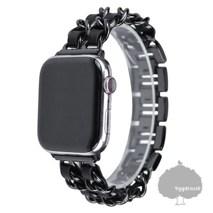 Blended Fabrics Chain Apple Watch Belt Watches Watches