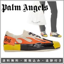 Palm Angels Casual Style Blended Fabrics Bi-color Leather Logo