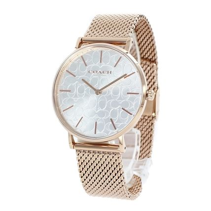Coach Casual Style Unisex Round Party Style Quartz Watches