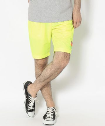 Nylon Plain Logo Neon Color Shorts