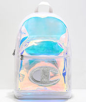 CHAMPION Casual Style Street Style Crystal Clear Bags Glitter Logo