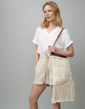 Casual Style Tassel 2WAY Plain Leather Party Style Fringes