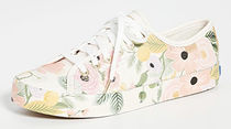 Keds Flower Patterns Rubber Sole Lace-up Leather Logo