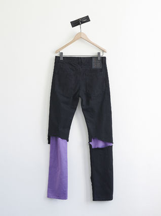 RAF SIMONS DENIM PANTS DOUBLE DESTROYED