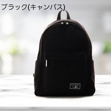 Casual Style Unisex Faux Fur A4 Logo Backpacks