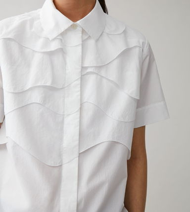 Short Casual Style Plain Cotton Short Sleeves Party Style