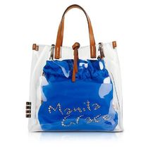 Manila Grace Casual Style Party Style Logo Totes