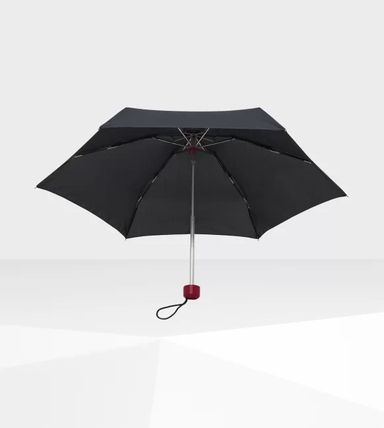 HUNTER Logo Unisex Plain Umbrellas & Rain Goods