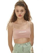 ODD ONE OUT Short Casual Style Street Style Plain Cotton Logo Cropped