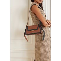 OROTON Plain Leather Office Style Elegant Style Crossbody
