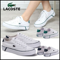 LACOSTE Casual Style Street Style Plain Logo Low-Top Sneakers