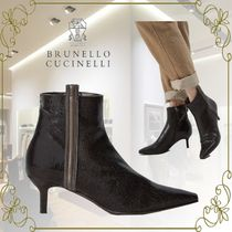 BRUNELLO CUCINELLI Leather Office Style Elegant Style Ankle & Booties Boots