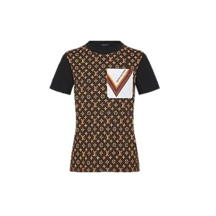 Louis Vuitton 2020-21 AW SIGNATURE POCKET MONOGRAM T-SHIRT black t-shirts