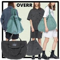 OVERR Casual Style Unisex Street Style Totes