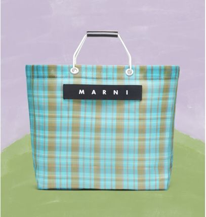Logo Other Plaid Patterns Casual Style Unisex Leather