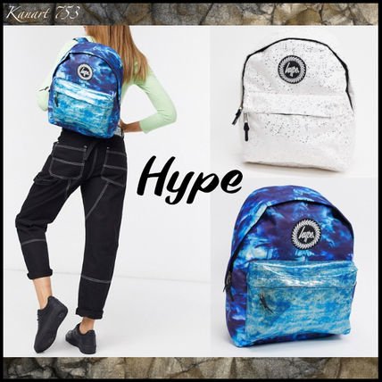 Casual Style Street Style Glitter Logo Metallic Backpacks