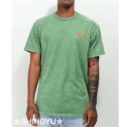 Crew Neck Unisex Street Style Cotton Short Sleeves Logo