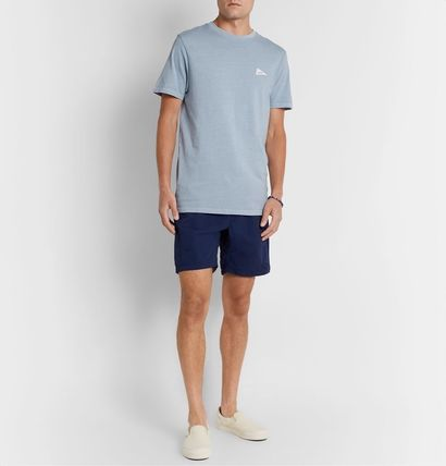 Crew Neck Street Style Cotton Short Sleeves Logo