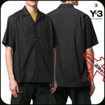 Y-3 Street Style Cotton Short Sleeves Designers Shirts
