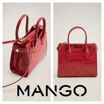 MANGO 2WAY Other Animal Patterns Shoulder Bags