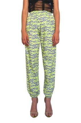 Printed Pants Casual Style Cotton Long Elegant Style Pants