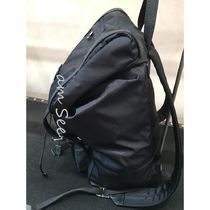 GUCCI Unisex Nylon Logo Backpacks