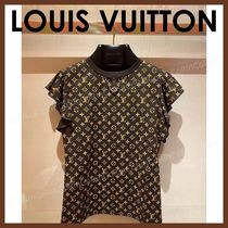 Louis Vuitton Street Style Cotton Short Sleeves Logo T-Shirts